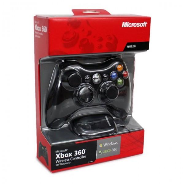 Xbox 360 Vezeték nélküli Kontroller (Fekete) + Vevő